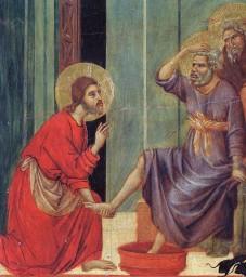 Washing feet - Duccio