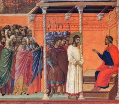 Christ before Pilate (Duccio, 1311)